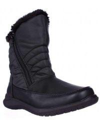 Weatherproof Alex Mid-calf Faux Fur Lined Winter Boots - Black