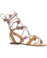 f52476187 Carlos By Carlos Santana - Gia Flat Lace Up Sandals - Lyst