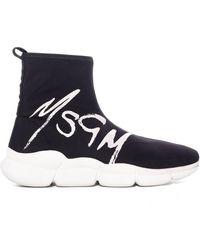 MSGM Logo Sock Sneaker - Blue