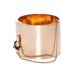 Eddie Borgo Wide Safety Chain Cuff - Metallic