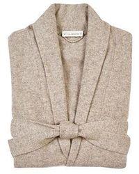 White + Warren Long Cashmere Robe - Natural