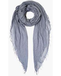 Chan Luu Cloud Gray Metallic Cashmere And Silk Scarf