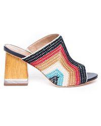 Bernardo Nala Multi Coloured Embroidered Mule - Multicolor