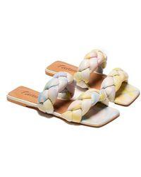 L'Intervalle Norine Braided Slide - Pastel Tie Dye - Multicolour