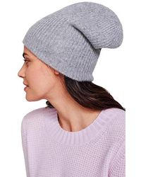 White + Warren Plush Rib Beanie - Gray Heather