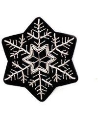 Macon & Lesquoy Snowflake Pin - White