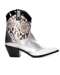 MSGM - Metallic Snake Cowboy Boot - Lyst