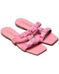 L'Intervalle Galia Studded Slide - Pink