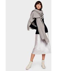 White + Warren Cashmere Travel Wrap Grey Heather