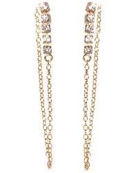 Fallon - Gold Chain Earrings - Lyst