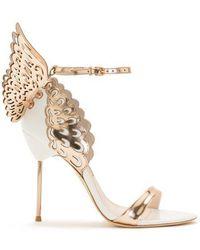 Sophia Webster Evangeline White Rose Gold Butterfly Sandal - Multicolour