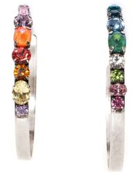DANNIJO Umija Hoop Earrings - Multicolour
