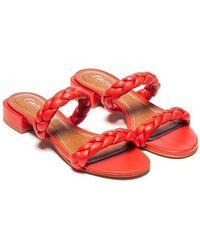 L'Intervalle Carnation Braided Sandal - Red
