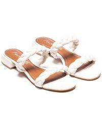 L'Intervalle Carnation Braided Sandal - White