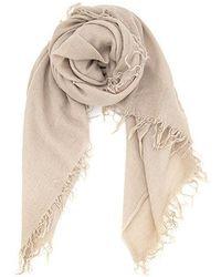 Chan Luu Doeskin Cashmere And Silk Scarf - Natural