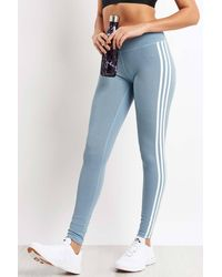 adidas Believe This 3-stripes Tights - Blue