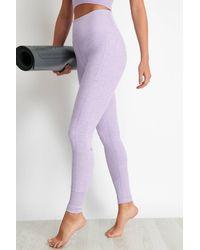 Alo Yoga 7/8 High-waist Lounge Leggings - Purple