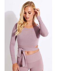 Alo Yoga Barre Long Sleeve - Purple