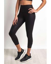 Alo Yoga High-waist Airbrush Capri Legging Black Glossy