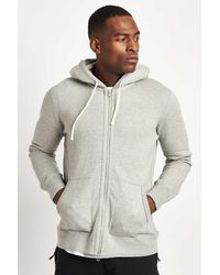 Reigning Champ Full Zip Hoodie Mid Weight - Grey