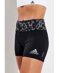adidas Fast Primeblue Graphic Booty Shorts - Black