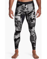 Under Armour Heatgear Iso-chill Print Leggings - Black