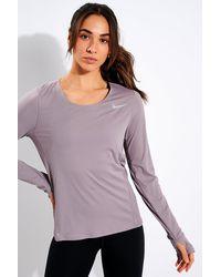 Nike Long Sleeve Running Top - Purple