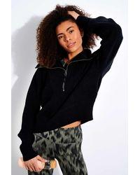 Varley Mentone Half-zip Knit Pullover - Black