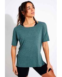 Nike Yoga Short Sleeve Top - Blue