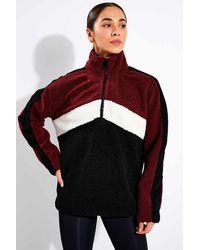 Alala Chalet Sherpa Quarter Zip - Red