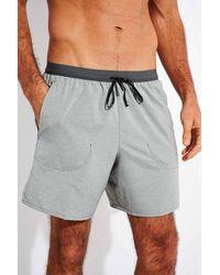 Nike Flex Stride Slim-fit Mélange Dri-fit Shorts - Grey