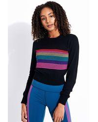 Spiritual Gangster Nikki Stripe Crop Jumper - Multicolour