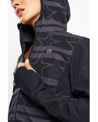 Calvin Klein Black Wind Print Jacket Stars Stripe - Multicolour