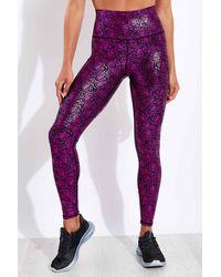 Terez Foil Ed High Waisted Legging - Purple