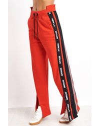 Ivy Park Asymmetric Stripe Sweatpants - Red