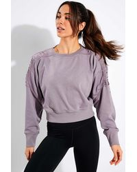 Nike Cropped Fleece Training Crew - Purple