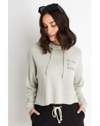 Good Hyouman The Anya Cropped Hoodie Give A Damn - Multicolour