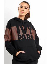 Ivy Park - Metallic Logo Oh Hoodie - Lyst