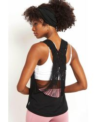 Free People - Wilder Tank Black - Lyst