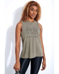 P.E Nation Shuffle High Twist Tank - Green