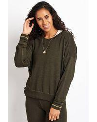 Sundry Bubble Sweatshirt With Stripe Rib - Multicolour