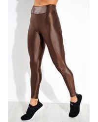 Koral Lustrous High Waisted legging - Brown