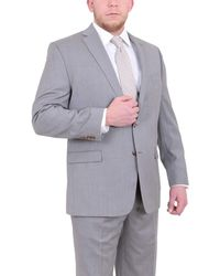 Ralph Lauren Classic Fit Solid Two Button Wool Suit - Gray
