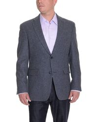 Tommy Hilfiger - Blue Houndstooth Two Button Wool Blazer Sportcoat - Lyst