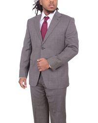 Ralph Lauren Slim Fit Nailhead Textured Two Button Wool Suit - Gray