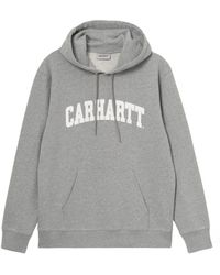 Carhartt WIP Hooded University Sweat: Grey Heather / White