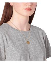A.P.C. Eloi Necklace: Gold - Grey