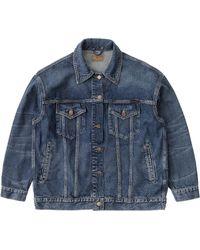 Nudie Jeans Elin Jacket: Blue Maze