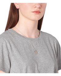 A.P.C. Eloi Necklace: Silver - Grey