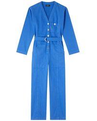 A.P.C. Gaelle Jumpsuit: Blue